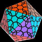 Clover Icosahedron D1 - Black Body