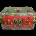 Half Round Jewelry Puzzle Box - Colored Design #2