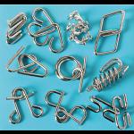 10 Metal Puzzle Set - Blue
