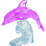 3D Crystal Puzzle Deluxe - Dolphin (Pink)