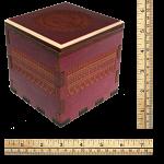 Mandala Secret Stash Box - Red Maple