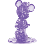 3D Crystal Puzzle - Minnie Mouse 2 (Purple)