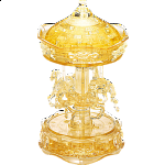 3D Crystal Puzzle Deluxe - Carousel (Gold)