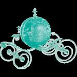 3D Crystal Puzzle Deluxe - Cinderella's Carriage (Aqua)