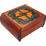 Dragonfly Secret Box - Brown