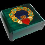Claddagh Secret Box - Green