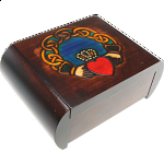 Claddagh Secret Box - Brown