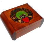 Claddagh Secret Box - Brown