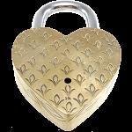 Heart Trick Padlock - 3 Monkeys