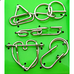 Hanayama Wire Puzzle Set - Green