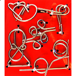Hanayama Wire Puzzle Set - Red