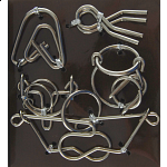Hanayama Wire Puzzle Set - Brown