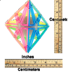 Frame Pyraminx - 4 Color Transparent Glow-in-the-Dark