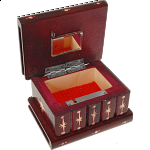 Romanian Puzzle Box - Small Burgundy