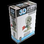 3D Pixel Puzzle - Skull & Rose