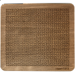 Wooden Fractal Tray Puzzle - Hilbert Curve