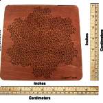 Wooden Fractal Tray Puzzle - Gosper Curve