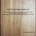 Most Perfect Magic Square 64