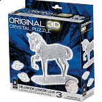 3D Crystal Puzzle Deluxe - Horse (White)