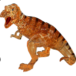 3D Crystal Puzzle Deluxe - T-Rex (Brown)