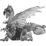 3D Crystal Puzzle Deluxe - Dragon (Black)