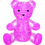 3D Crystal Puzzle - Teddy Bear (Pink)