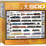 History of Trains - Large Piece Jigsaw Puzzle