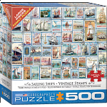 Sailing Ships: Vintage Stamps - Large Piece Jigsaw Puzzle