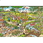 Jan van Haasteren Comic Puzzle - The Park (500 XL Pieces)