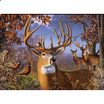 Deer and Pheasant - Large Piece