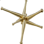 Heavy Hitter: Brass Baseball Bat Puzzle Sculpture