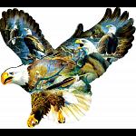 Eagle Majesty - Shaped Jigsaw Puzzle