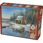 Winter Cabin - Large Piece