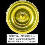 Maverick (Yellow) - Aluminum Ball Bearing Yo-Yo