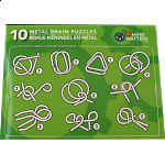 10 Metal Brain Puzzles - Green