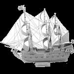 Metal Earth: Iconx 3D Metal Model Kit - Black Pearl