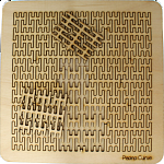 Wooden Fractal Tray Puzzle - Peano Curve