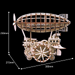 ROKR Wooden Mechanical Gears  - Air Vehicle