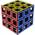 Hollow 3x3x3 Cube - Black Body