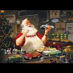 Santa Painting Cars