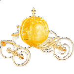 3D Crystal Puzzle Deluxe - Cinderella's Carriage (Gold)