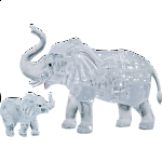 3D Crystal Puzzle - Elephant & Baby