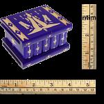 Romanian Puzzle Box - Small Dark Purple