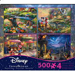 Thomas Kinkade: Disney 4 in 1 Jigsaw Puzzle Collection#4