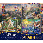 Thomas Kinkade: Disney 4 in 1 Jigsaw Puzzle Collection#5