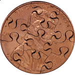 10 Piece Penny - Coin Jigsaw Puzzle