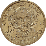 17 Piece Small Dollar - Coin Jigsaw Puzzle