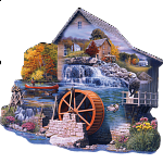 The Old Mill Stream - Shaped Jigsaw Puzzle