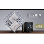 Bitcoin Puzzle with 2 White Playing Card Decks