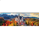 Neuschwanstein Castle in Autumn - Germany: Panoramic Puzzle